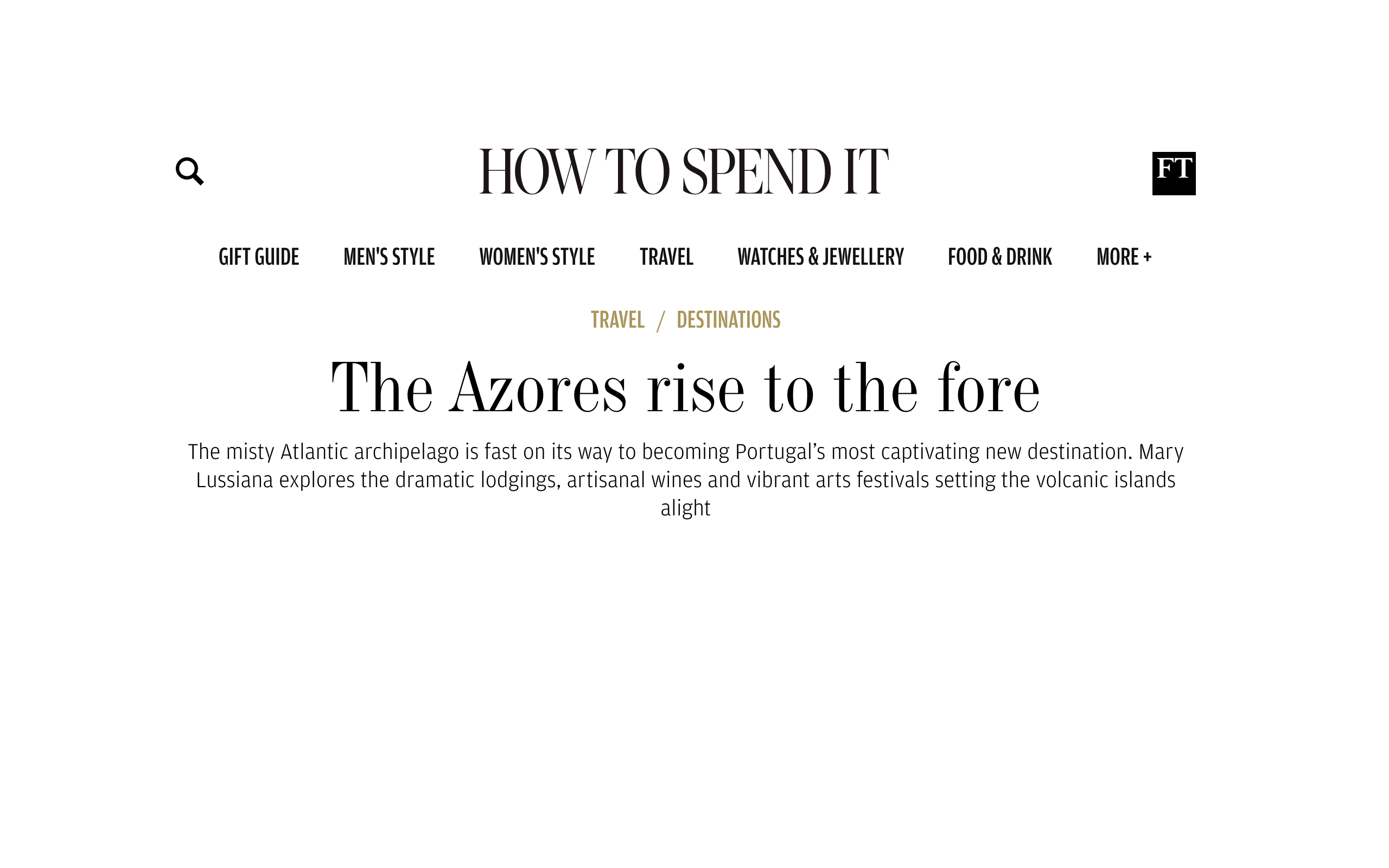 The Azores rise to the fore